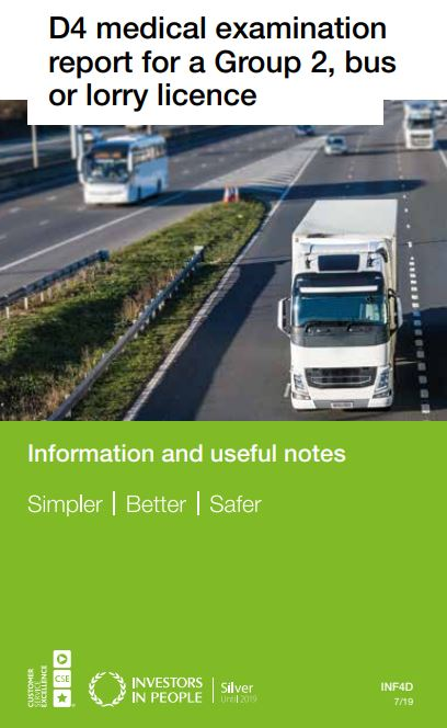 4 medical examination hgv lorry drivers
